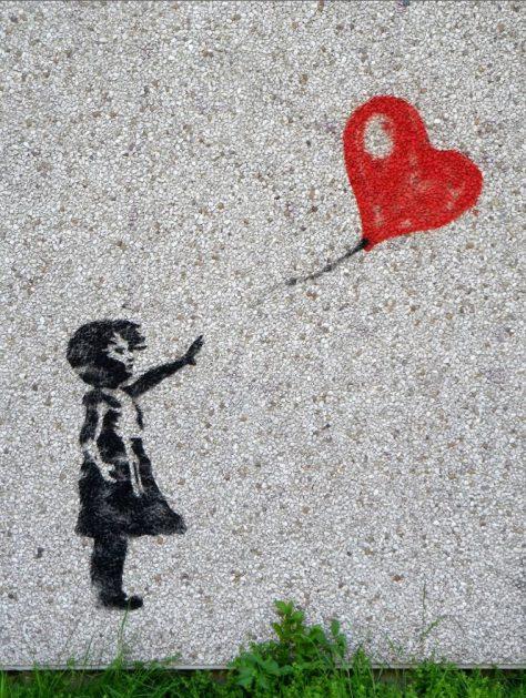 Mädchen-Ballon-Liebe-Sehnsucht
