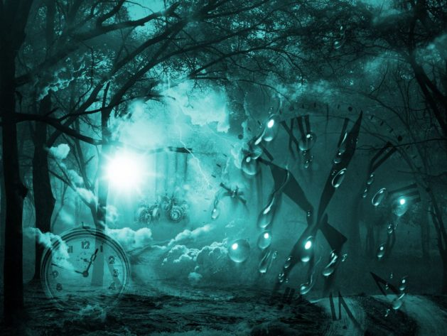 ZEIT-surreal_SNIP_Mysticsartdesign_türkis